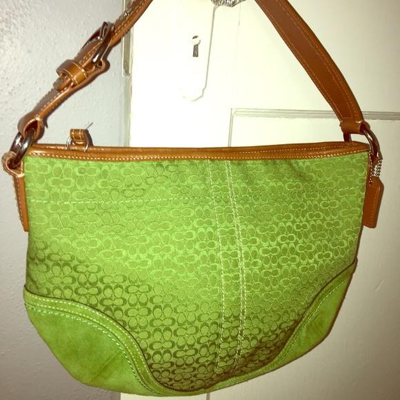 Coach Handbags - Bright green Coach purse